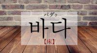 韓国語で「床・底」の【바닥(パダク)】をタメ語で覚えよう!