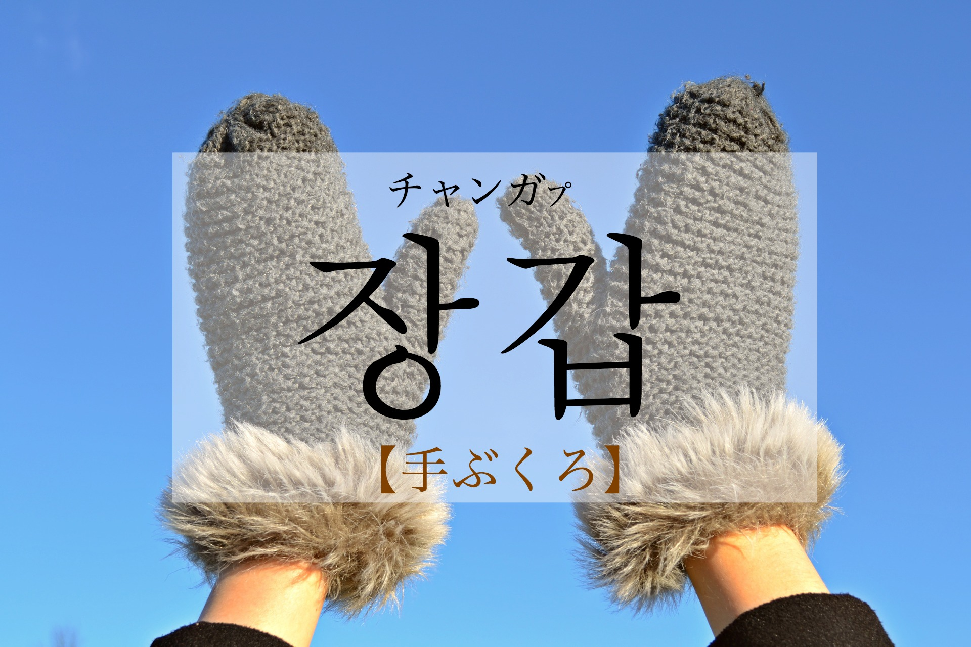 koreanword-gloves