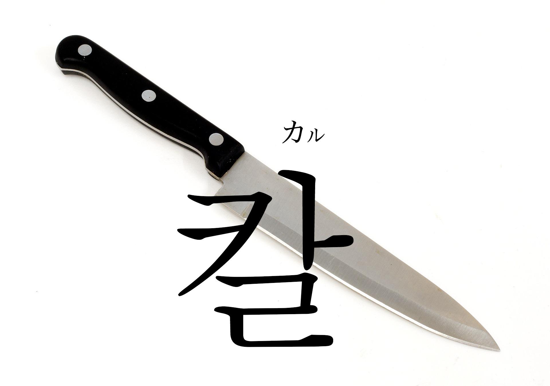 韓国語で「包丁(ほうちょう)・刀」の【칼(カル)】をタメ語で覚えよう!