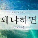 koreanword-because