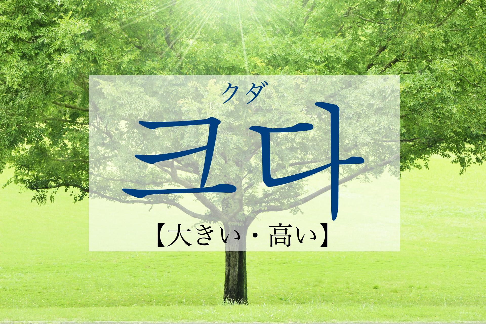 韓国語で「大きい・高い」の【크다(クダ)】の活用や発音は?