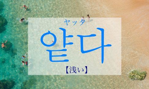 韓国語で「浅い」の【얕다(ヤッタ)】の活用や発音は?例文も!