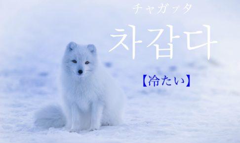 韓国語で「冷たい」の【차갑다(チャガプタ)】の活用や発音・例文は?