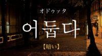 韓国語で「暗い」の【어둡다(オドゥプタ)】の活用や発音・例文は?タメ語で覚えよう!