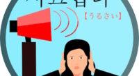 韓国語で「うるさい」の【시끄럽다(シックロプタ)】の活用や発音・例文は?タメ語で覚えよう!