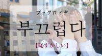 韓国語で「恥ずかしい」の【부끄럽다(ブックロプタ)】の活用や発音・例文は?タメ語で覚えよう!