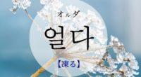 韓国語で「凍る」の【얼다(オルダ)】の例文・活用や発音は?タメ語で覚えよう!