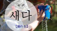 韓国語で「漏れる」の【새다(セダ)】の例文・活用や発音は?タメ語で覚えよう!