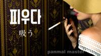 韓国語で「吸う」の【피우다(ピウダ)】の例文・活用や発音は?タメ語で覚えよう