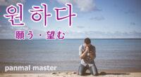 韓国語で「願う・望む」の【원하다(ウォナダ)】の例文・活用や発音は?