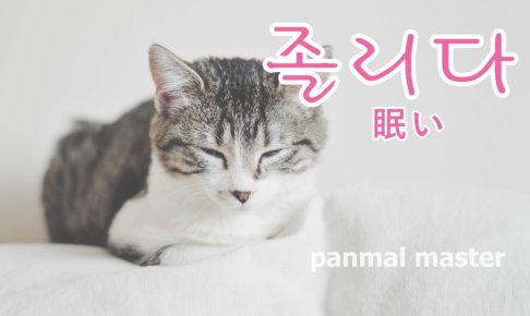 korean-words-sleepy