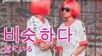 韓国語で「似ている」の【비슷하다(ピスタダ)】の例文・活用や発音は?